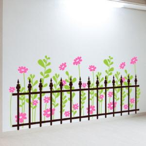 그래픽스티커 (gm-ic304)-울타리있는꽃밭_그래픽스티커
