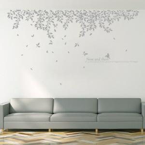 그래픽스티커 (gm-ph342)-흩날리는나뭇잎들(단색)_그래픽스티커